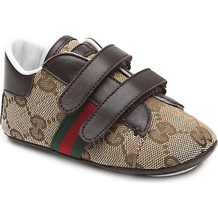 GUCCI Logo printed trainers 6 months-1 year (Brown