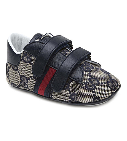 GUCCI Logo printed trainers 6 months-1 year (Navy