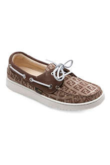 FENDI Lace-up logo loafers 5-10 years