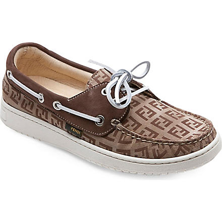 FENDI Lace-up logo loafers 5-10 years (Beige