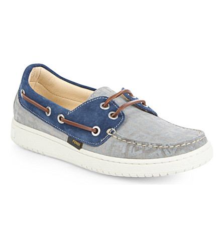 FENDI Lace-up logo loafers 5-10 years (Grey