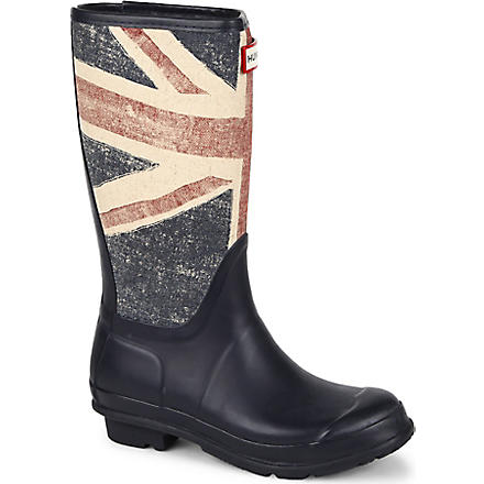 HUNTER Vintage Union Jack wellies 4-11 years (Navy