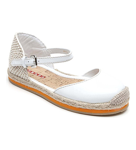 PRADA Espadrille pumps 7-9 years (White