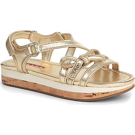 PRADA Wedge sandals 6-9 years (Gold