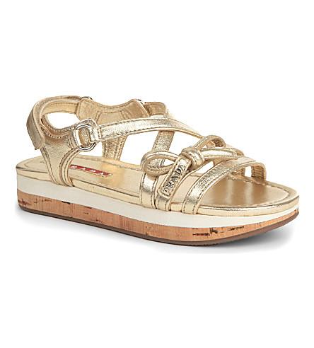PRADA Wedge sandals 6-9 years (Gold