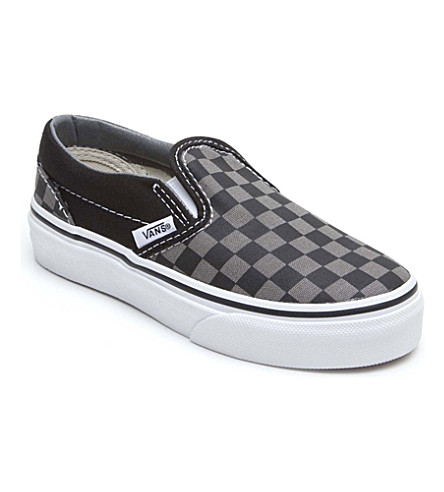 VANS Checkerboard slip-on trainers 4-9 years (Black