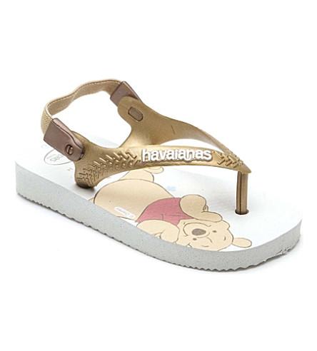 HAVAIANAS Pooh flip-flops 2-5 years (White