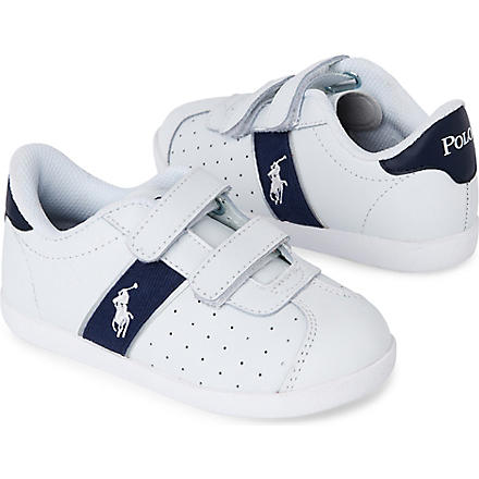 RALPH LAUREN Velcro strap trainers 3-8 years (White