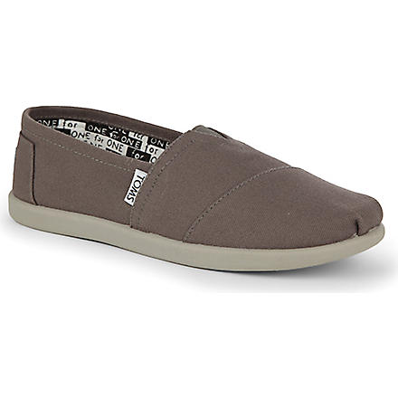 TOMS Unisex canvas espadrilles 2-10 years (Grey