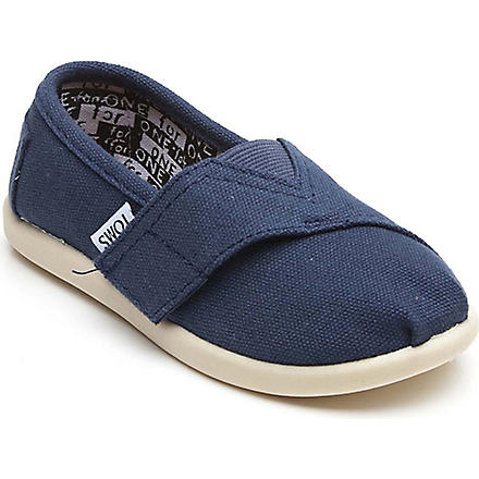 TOMS Unisex canvas espadrilles 2-10 years (Navy