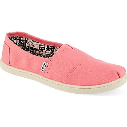TOMS Unisex canvas espadrilles 2-10 years (Pink
