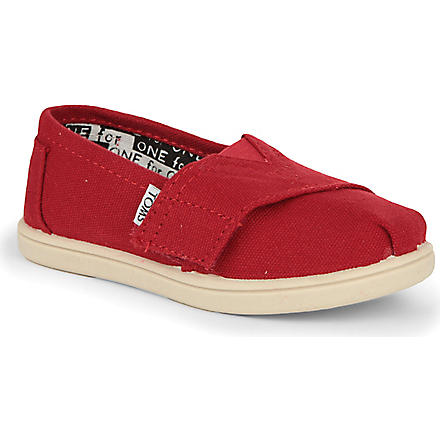 TOMS Unisex canvas espadrilles 2-10 years (Red