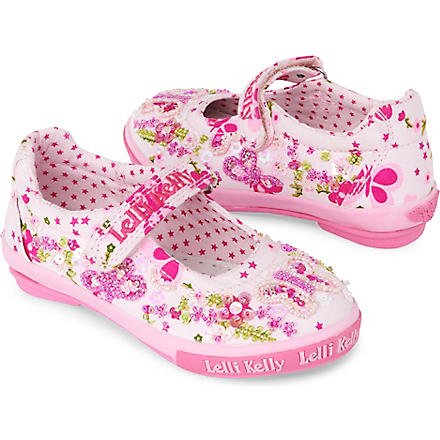 LELLI KELLY Butterfly Dolly shoes 3-9 years (Pink