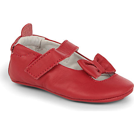OLD SOLES Leather ballet shoes 6 months-1 year (Red