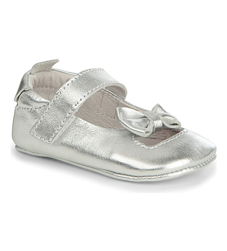 OLD SOLES Leather ballet shoes 6 months-1 year (Silver