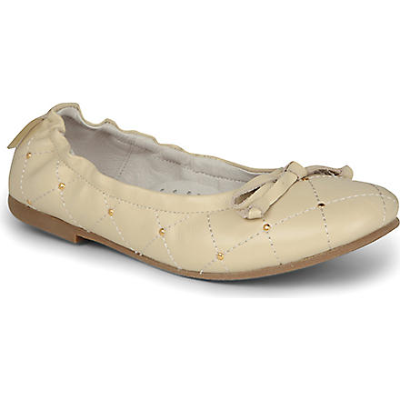 STEP2WO Verity pumps 7-10 years (Beige+leather