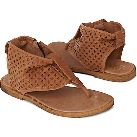STEP2WO Punchiva sandals 6-10 years (Tan+leather