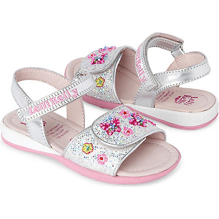 LELLI KELLY Floral embellished sandals 3-8 years (Silver