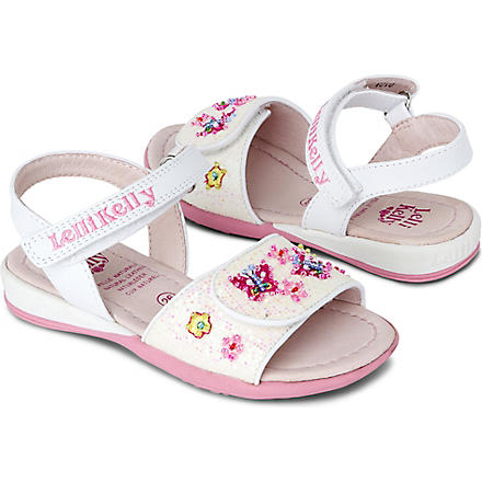 LELLI KELLY Floral embellished sandals 3-8 years (White