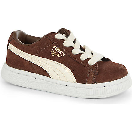 PUMA Clyde skater trainers 2-5 years (Brown