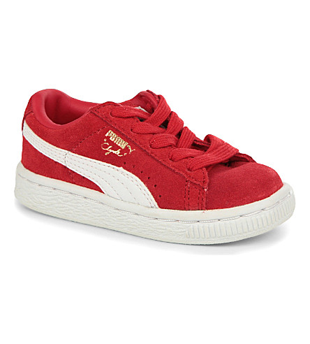 PUMA Clyde skater trainers 2-5 years (Red