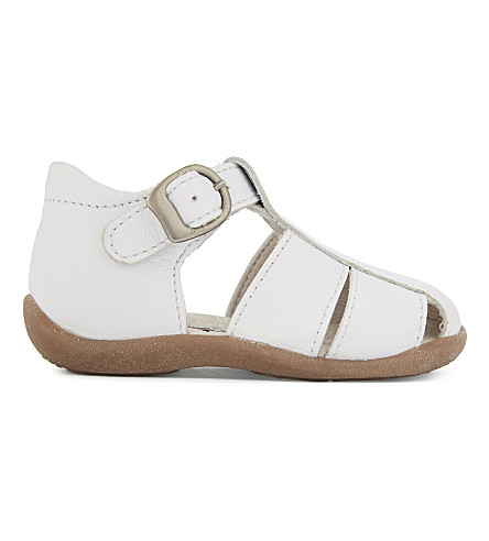 STEP2WO Tiny leather sandals 6-12 months (White+leather