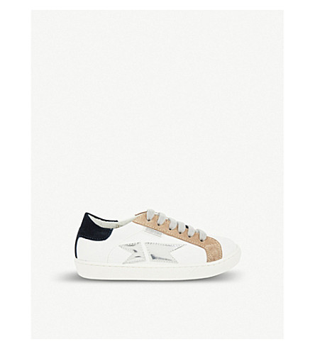 STEP2WO Savin leather and suede trainers 6-12 years (Navy