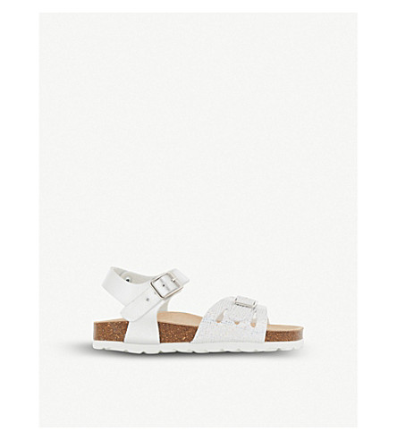 STEP2WO Mina 2 leather sandals 4-9 years (Silver+leather