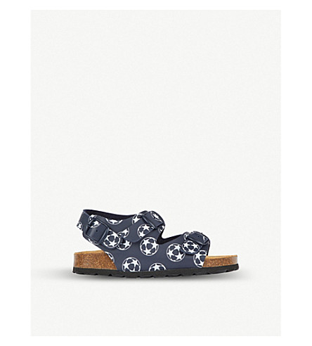 STEP2WO Goal printed leather sandals 3-9 years (Navy