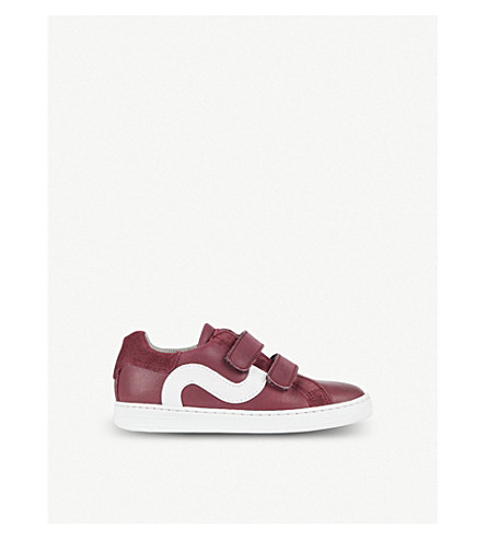 STEP2WO Thornton leather trainers 3-8 years (Wine