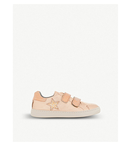 STEP2WO Jupiter metallic-leather trainers 3-8 years (Rose+gold