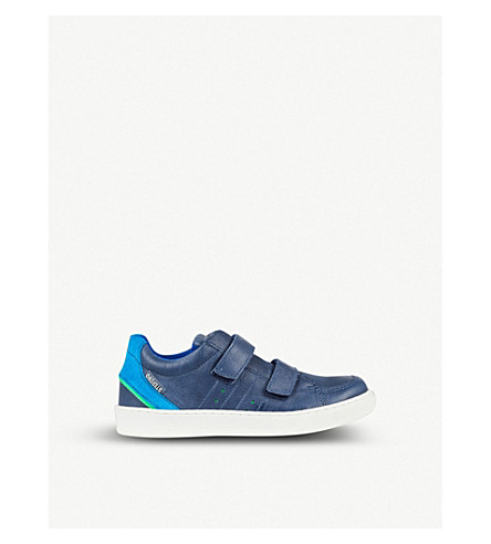 STEP2WO Sidney leather trainers 6-11 years (Navy+leather