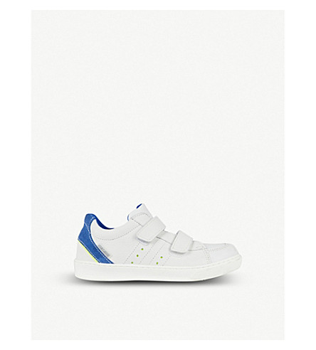 STEP2WO Sidney leather trainers 6-11 years (White+leather