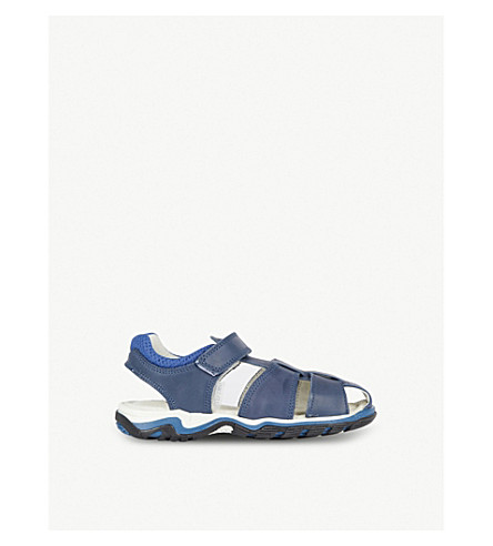 STEP2WO Nelson leather sandals 3-8 years (Navy+leather