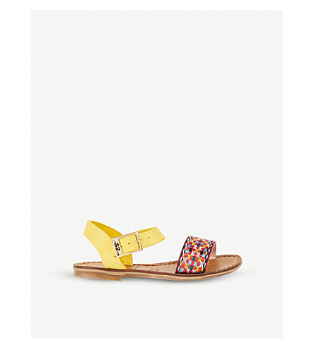 STEP2WO Peru leather sandals 6 years – 11 years (Yellow+leather