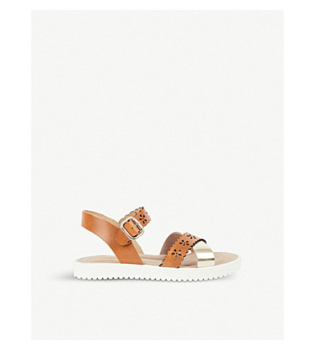 STEP2WO Lucy leather sandals 8 years - 11 years (Tan