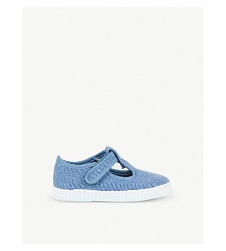 STEP2WO Mitch canvas t-bar shoes 6 months – 7 years (Denim