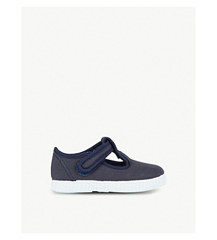 STEP2WO Mitch canvas t-bar shoes 6 months – 7 years (Navy