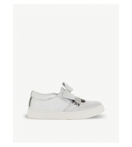 STEP2WO Smile Bow leather trainers 2-5 years (Silver