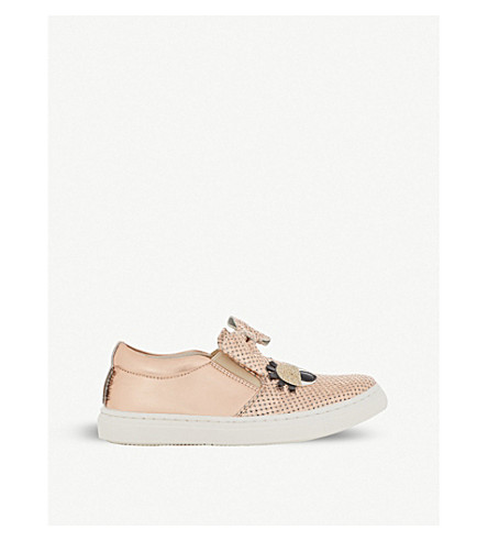 STEP2WO Smile Bow leather trainers 2-5 years (Rose+gold