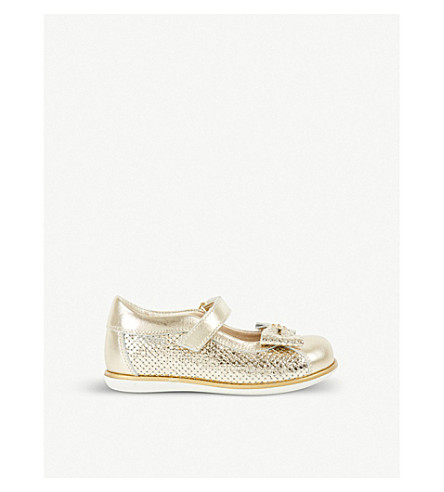 STEP2WO Crystal leather shoes 6 months – 5 years (Gold+leather