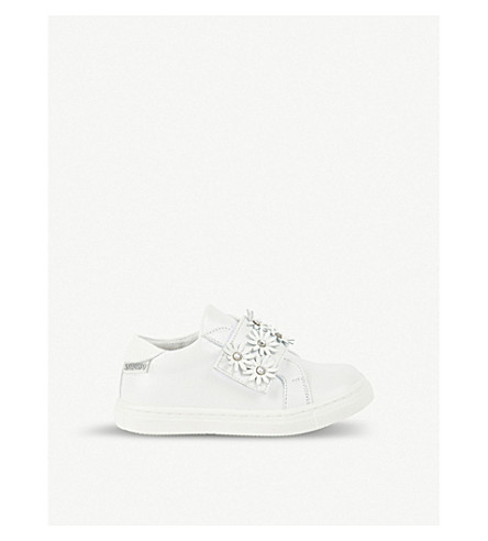 STEP2WO Primrose leather trainers 2-7 years (White+leather