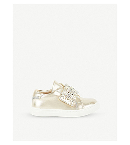 STEP2WO Primrose metallic-leather trainers 2-10 years (Gold+leather