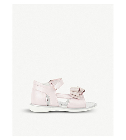 STEP2WO Marta bow-detail leather sandals 1-5 years (Pink+leather