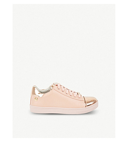 STEP2WO Coryn 2 leather lace-up trainers 6-11 years (Pink+leather