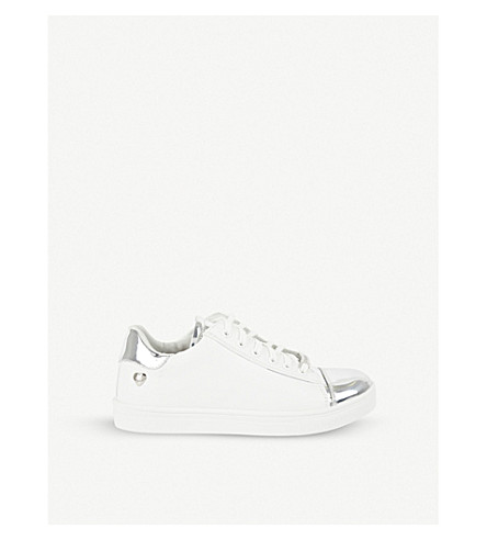 STEP2WO Coryn 2 leather lace-up trainers 6-11 years (Silver