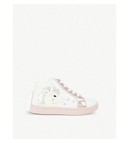 STEP2WO Unicorn leather high-top trainers 3-7 years (White+leather