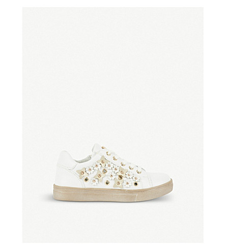 STEP2WO Pergola leather trainers 6-11 years (White+leather