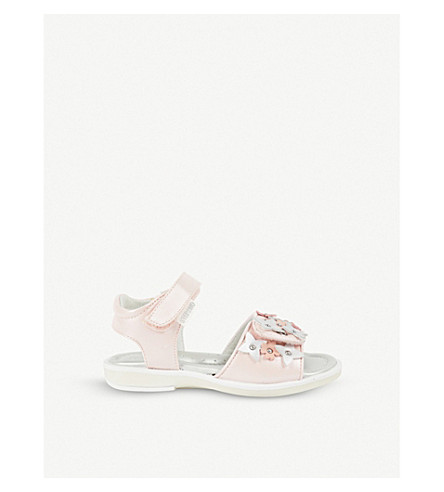 STEP2WO Pergola leather sandals 3-8 years (Pink+leather
