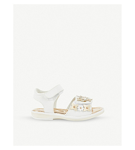 STEP2WO Pergola leather sandals 3-8 years (White+leather